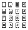 phone and communication icon set vector image vector image