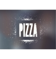 Restaurant menu design for pizza vector image