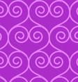 Retro 3D purple swirly hearts vector image
