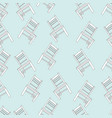 seamless pattern with old wooden chairs vector image