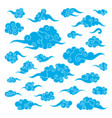 set of chinese clouds vector image vector image