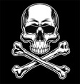Skull and crossbones on black