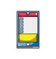 smartphone object technology with data information vector image