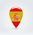 Spanish icon point for map vector image vector image