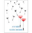 Spanish Valentine background vector image vector image