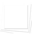 stacked square white paper frame vector image vector image