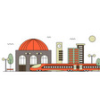 suburban train station vector image vector image