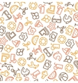 Summer time seamless pattern with icons vector image