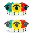 Three Sheep vector image vector image