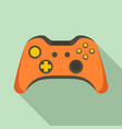 video game controller icon flat style vector image vector image
