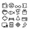 web line icon set website navigation flat design vector image vector image