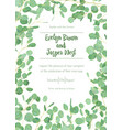 wedding eucalyptus vertical design banner frame vector image