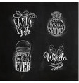 wedding symbols chalk vector image vector image