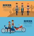 biker culture background vector image