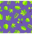 Leaves in flat design vector image