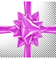 3d bow ribbon beautiful bright ribbon vector image vector image
