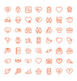 49 heart icons vector image vector image