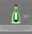 absinthe alcoholic beverage card template vector image vector image