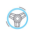 alloy wheels thin line stroke icon alloy vector image