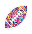 american simple football ball stained vector image