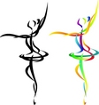 Ballet dancer vector | Price: 1 Credit (USD $1)
