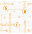 bitcoin code seamless background vector image