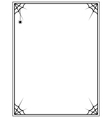black frame with spider web on a white background vector image