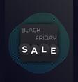 black friday sale modern poster vector image vector image