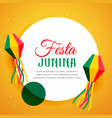 brazil festival of festa junina poster design vector image vector image