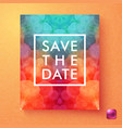 bright dynamic save the date wedding invitation vector image vector image