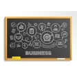 Business hand draw integrated icons set on school vector image vector image