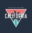california ocean avenue t-shirt and apparel design vector image vector image