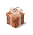 cardboard gift box isolated cartoon icon vector image