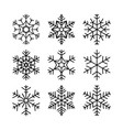 christmas snowflakes set winter collection vector image