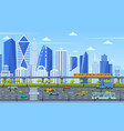 cityscape infrastructure modern city architecture vector image