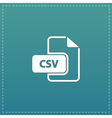 CSV extension text file type icon vector image vector image
