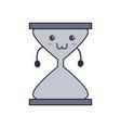 cute hour glass kawaii vector image