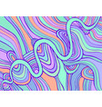 decorative abstract pattern many lines waves vector image vector image