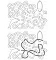 dolphin maze vector image vector image