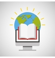 education online global book vector image