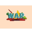 Elements of War Military vector image vector image