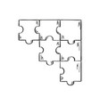 few pieces puzzle vector image vector image