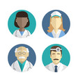 flat design people icons vector image