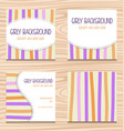 girly invitation card template simple stripe color vector image vector image