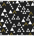 Gold geometric triangle seamless pattern On black vector image vector image