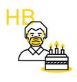 happy birthday in quarantine vector image vector image