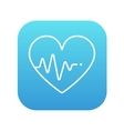 Heart with cardiogram line icon vector image vector image