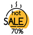 hot sale in stores promotion geometric bubble vector image vector image