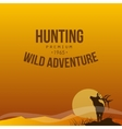 Hunting Poster vector image