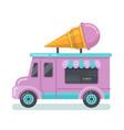 ice cream van flat vector image vector image